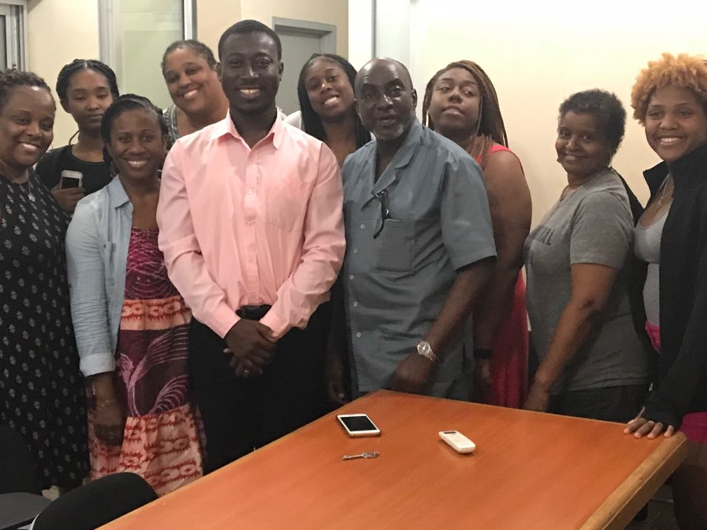 Professor Lartey, Daniel Fordjour and a group of Students from Emory University Atlanta